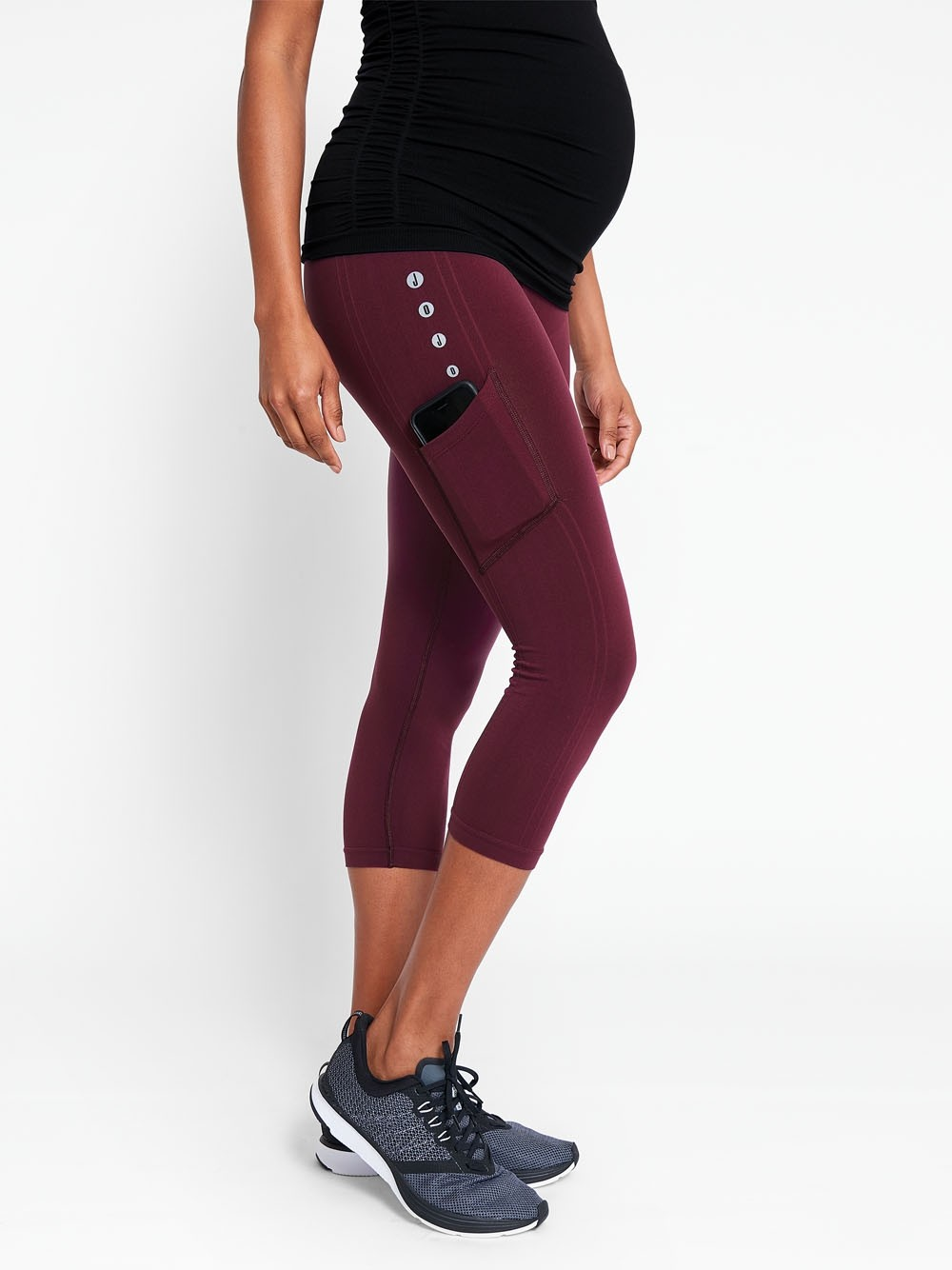 Active Support Cropped Maternity Leggings