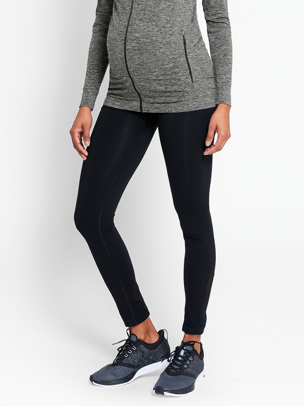 Black Active Support Maternity Leggings