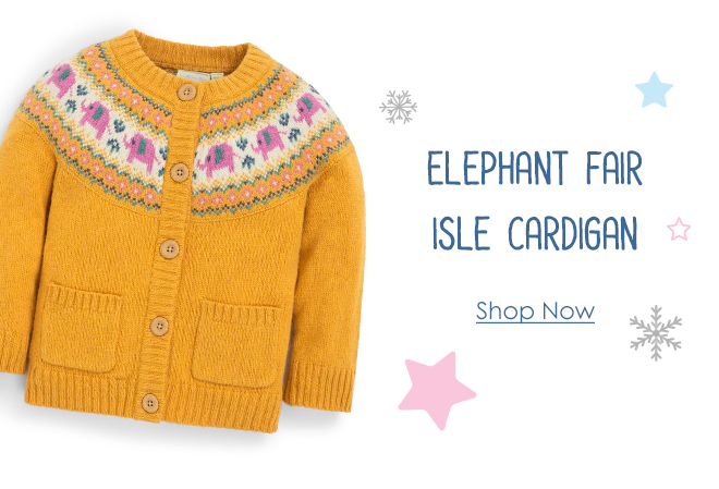 Kids' Elephant Fair Isle Cardigan