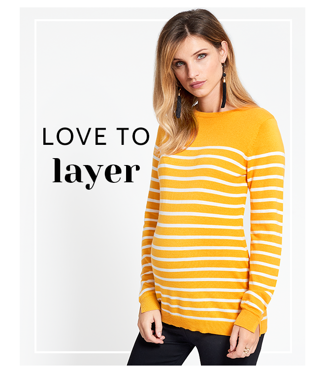 Yellow Breton Stripe Maternity Jumper