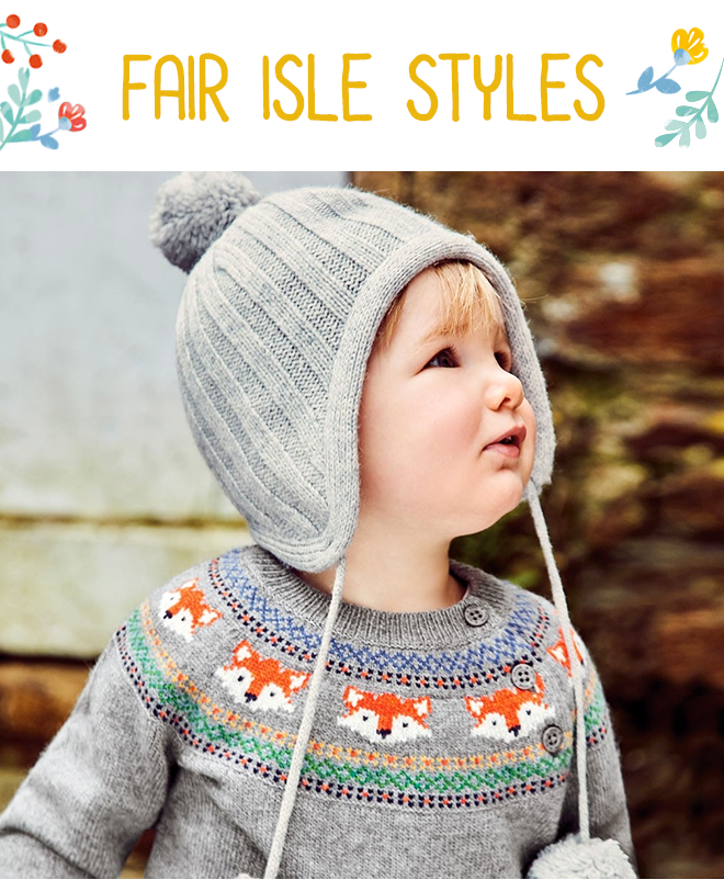 Kids' Fox Fair Isle Jumper