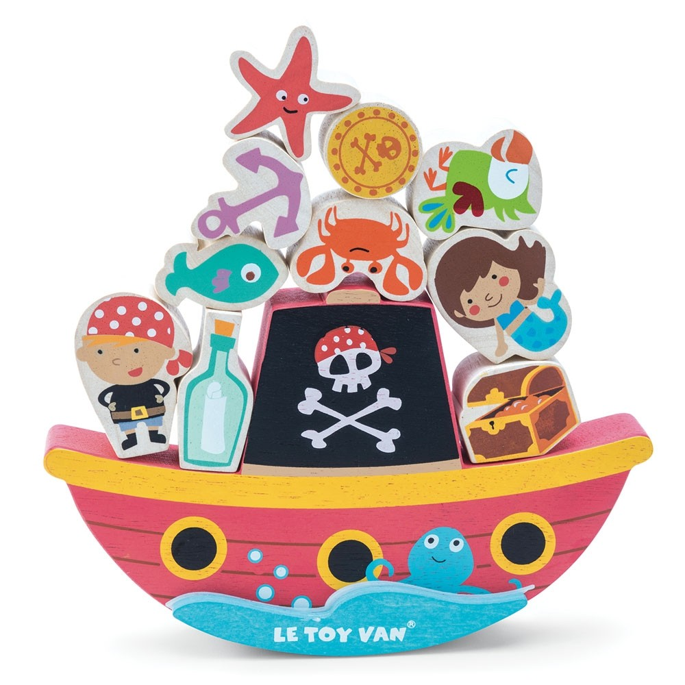 Le Toy Van Pirate Balance Rock N Stack