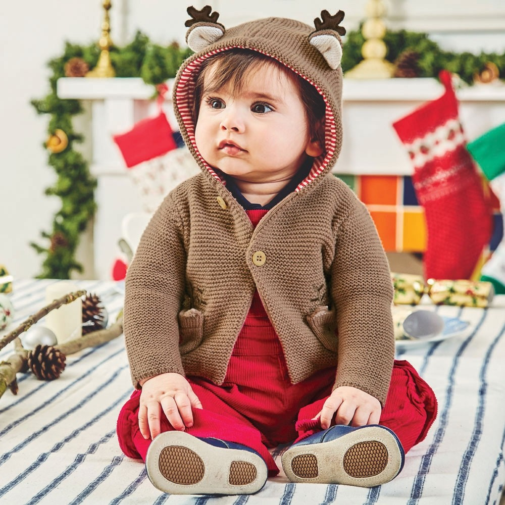 Fawn Cosy Reindeer Baby Cardigan | Shop Now
