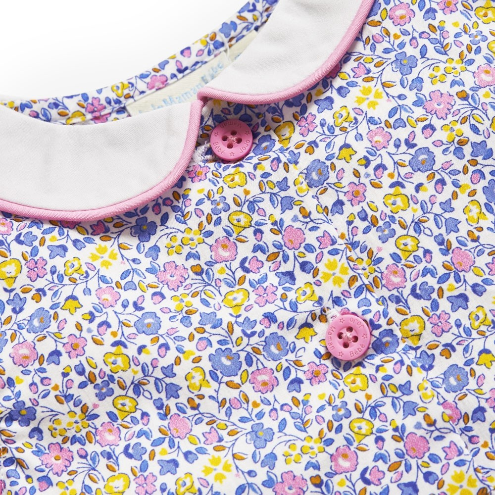 Girls' Yellow Ditsy Floral Shirt Dress