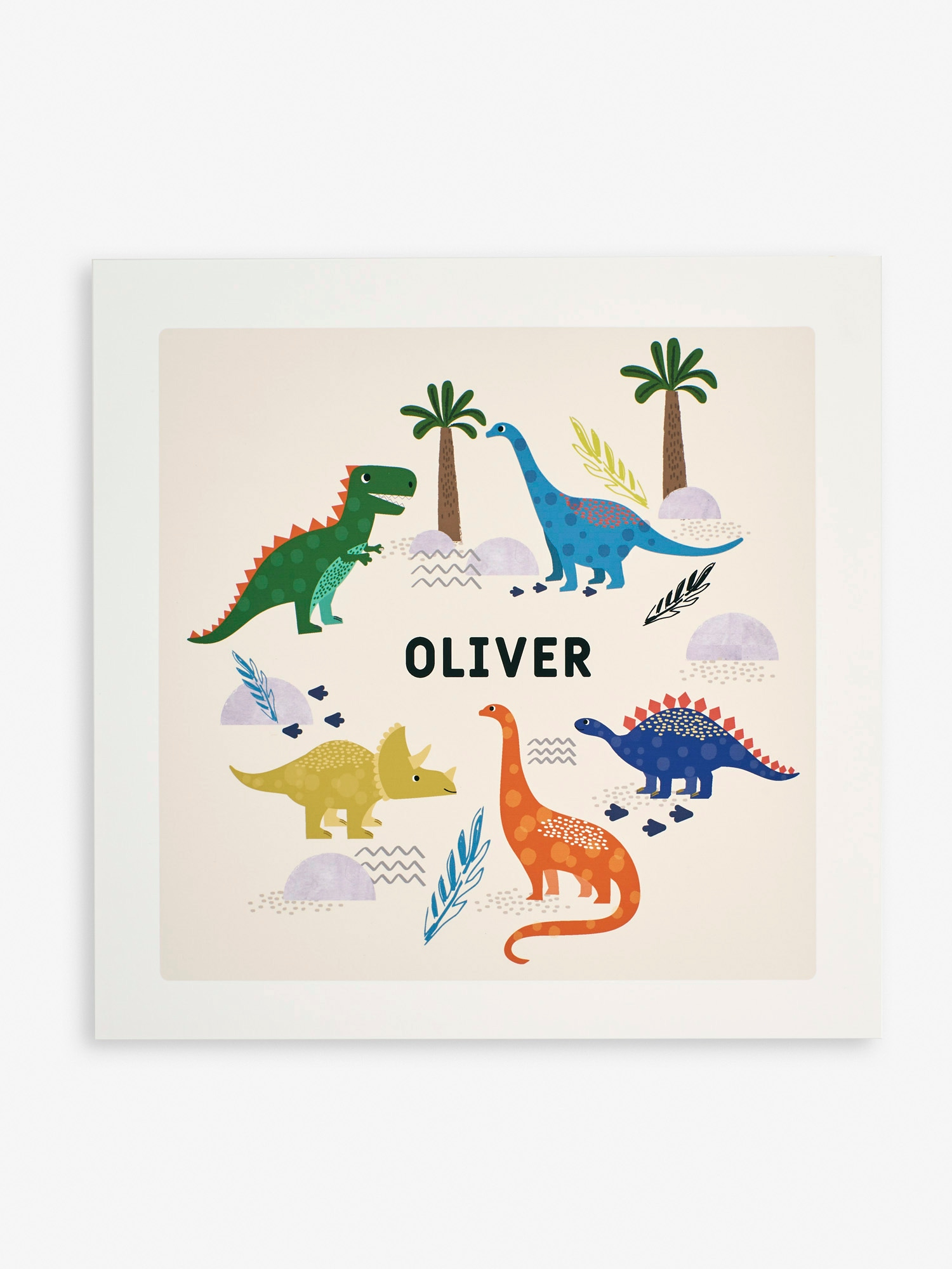 Personalised Bright Dinosaur Print
