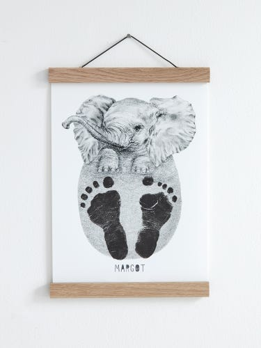 Lucy Coggle Personalised Baby Elephant Footprint Kit