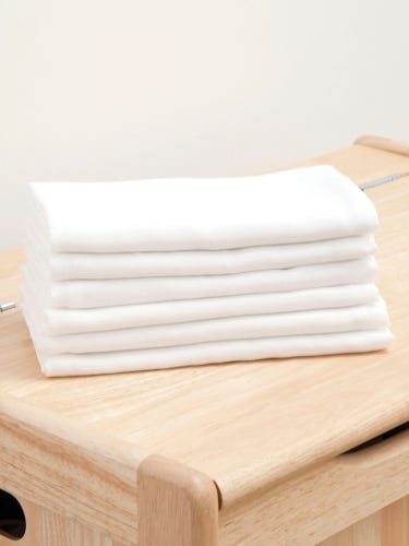 6-Pack White Muslin Squares