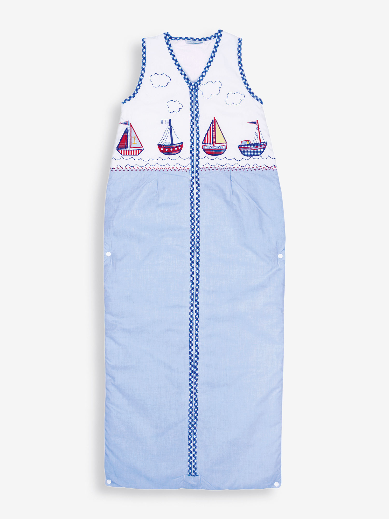 Nautical Lightweight 1.5 Tog Toddler Sleeping Bag