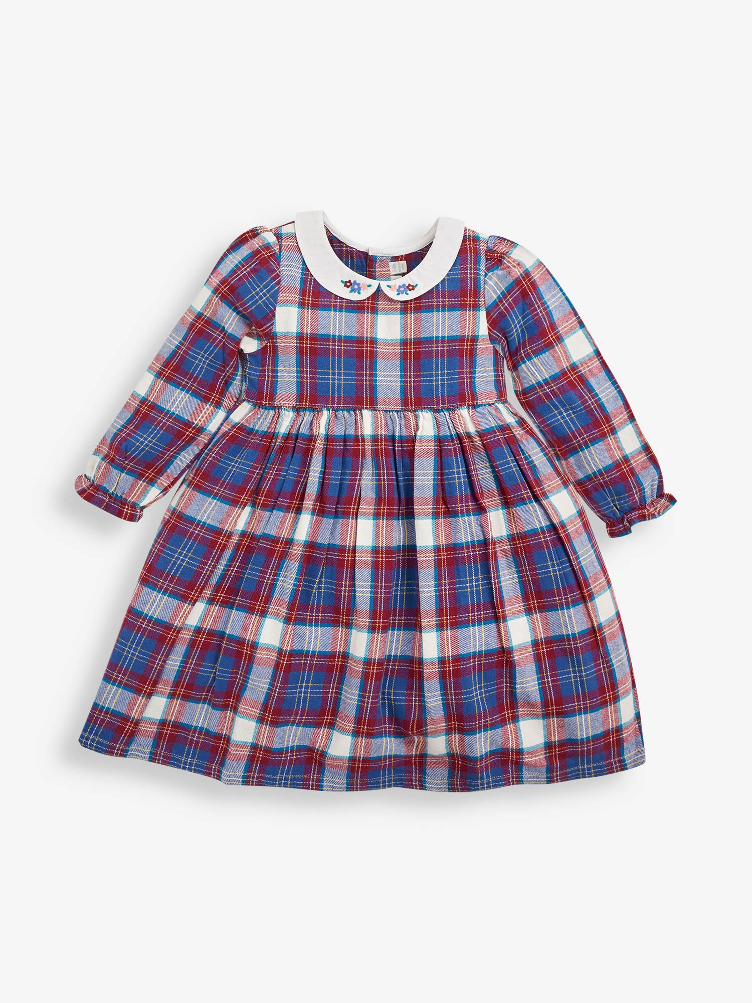 Girls' Pretty Berry Check Dress