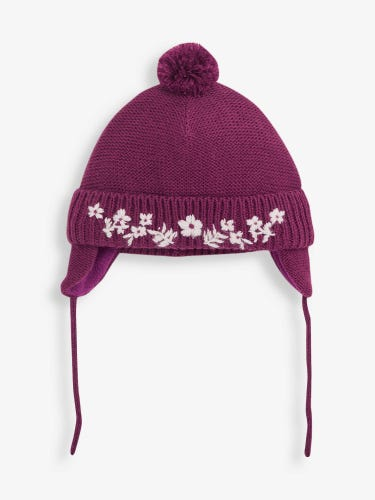 Berry Floral Embroidered Hat