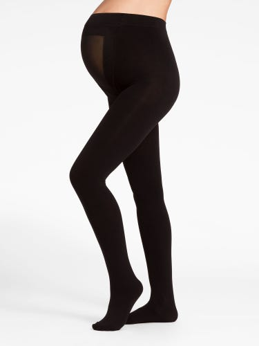 Black 100 Denier Ultimate Support Maternity Tights