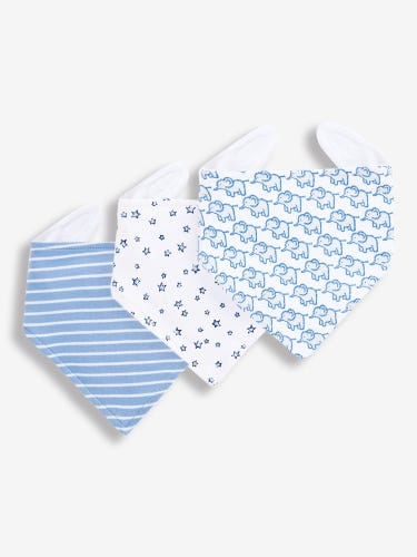 3-Pack Little Elephants Dribble Bibs