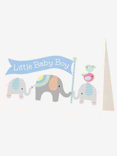 Elephant New Baby Greetings Card