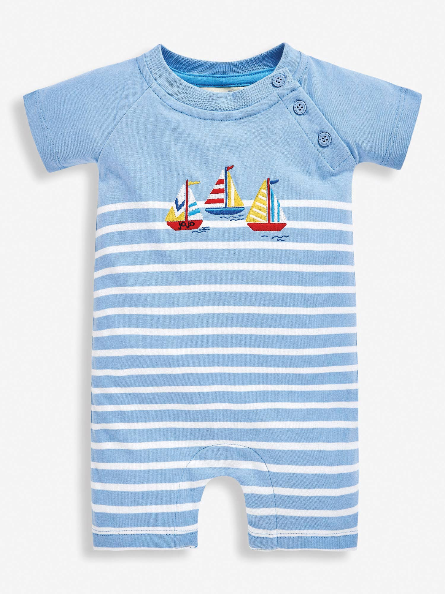 Blue Boat Baby Romper
