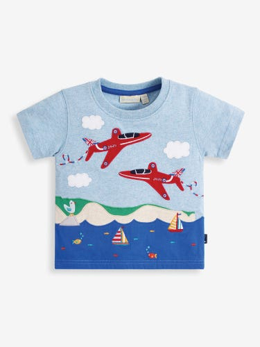 Kids' Blue Red Arrows Nautical Scene T-Shirt