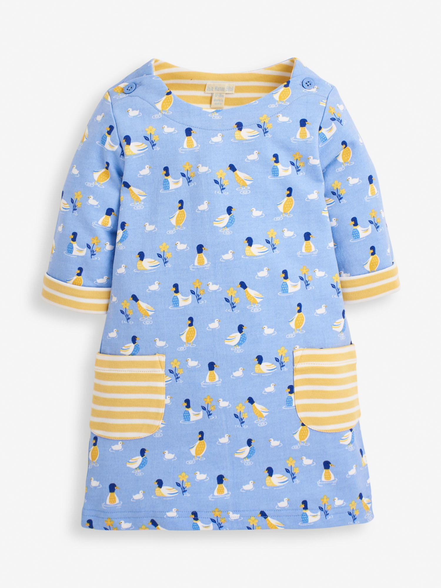 Girls' Blue Duck A-Line Dress