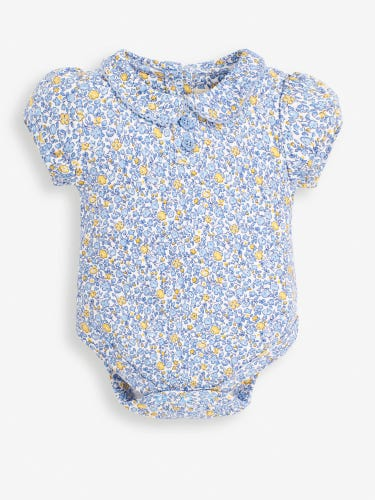 Blue Ditsy Peter Pan Baby Bodysuit