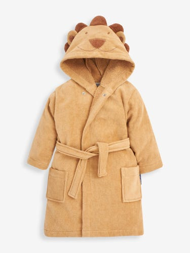 Brown Lion Towelling Robe
