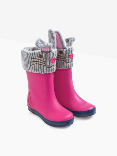 Bunny Knitted Wellie Liners
