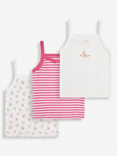 3-Pack Girls' Bunny Vests