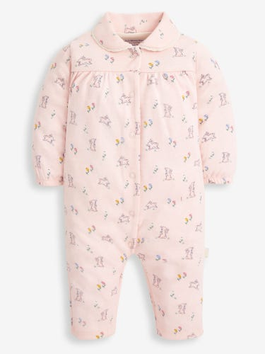 Pink Bunny Jersey All-in-One Baby Pyjamas