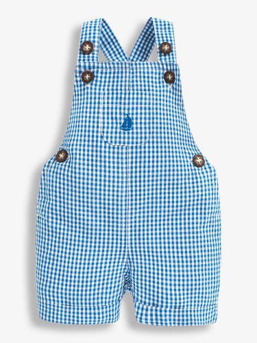 Boat Gingham Baby Dungarees