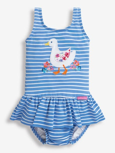 Girls' Duck Swimsuit with Nappy