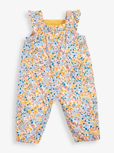 Vintage Floral Cord Baby Dungarees