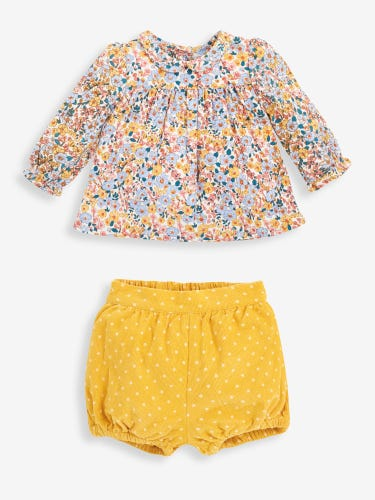 2-Piece Floral Baby Blouse & Bloomers Set