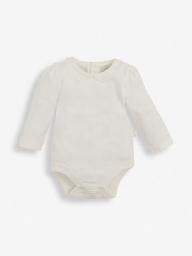 Cream Lace Collar Baby Bodysuit