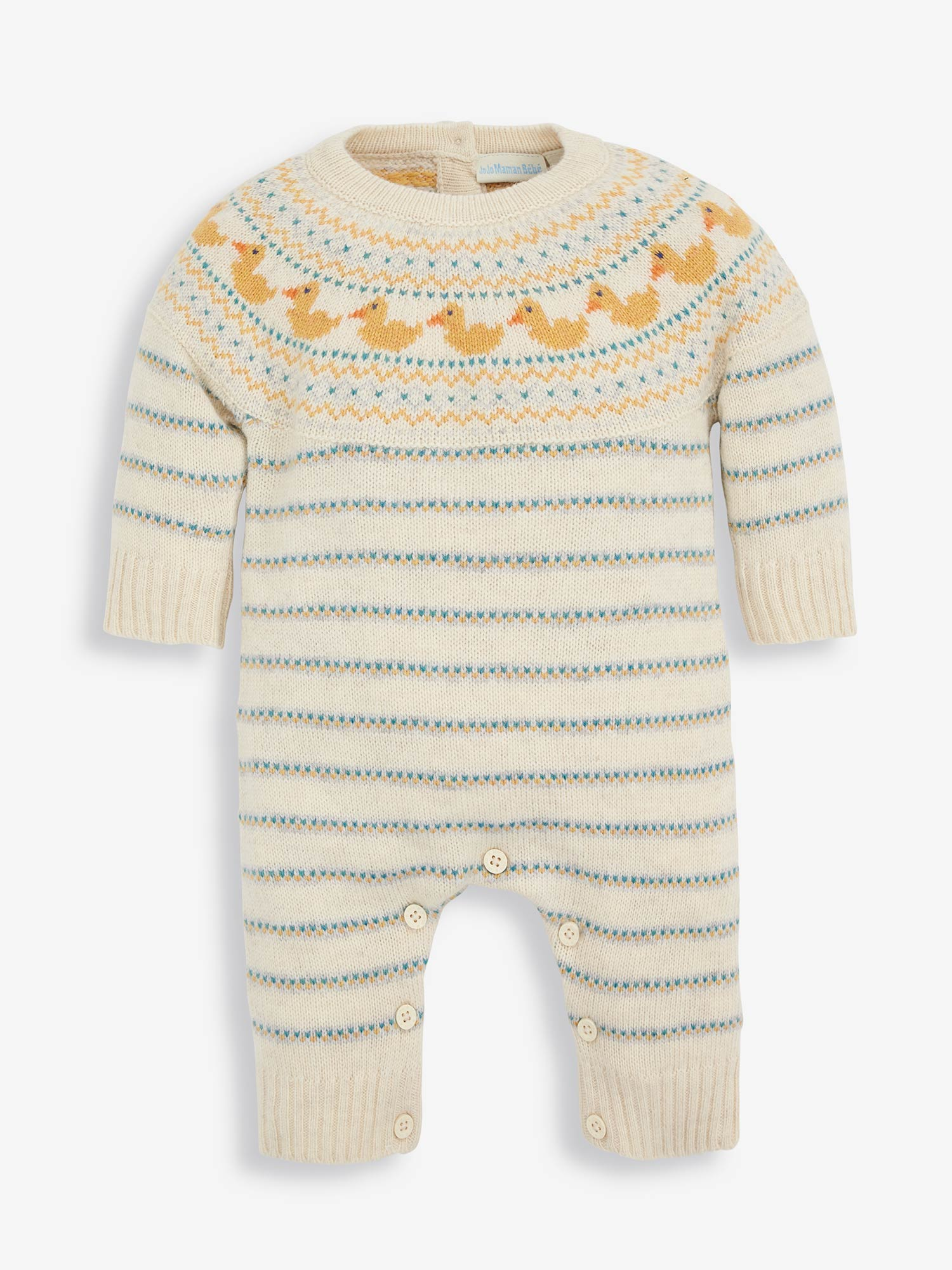 Duck Knitted Baby All-In-One