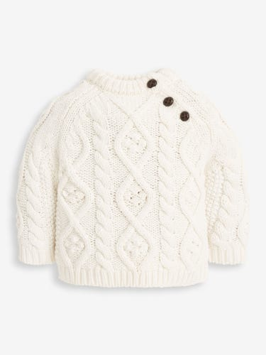 Kids' Cream Cable Knit Jumper