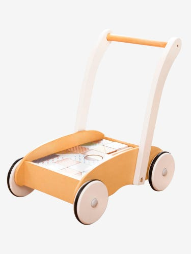 Baby Walker with Pastel Wooden Blocks