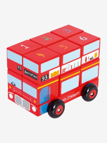 London Bus Wooden Stacker