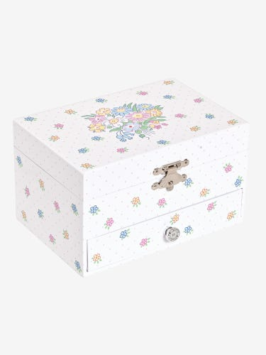 Pretty Floral Musical Jewellery Box