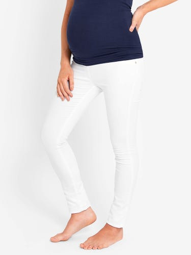 White Super Stretch Maternity Skinny Jeans