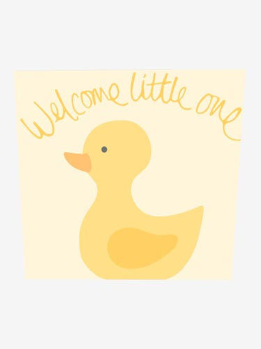 Duck New Baby Greetings Card