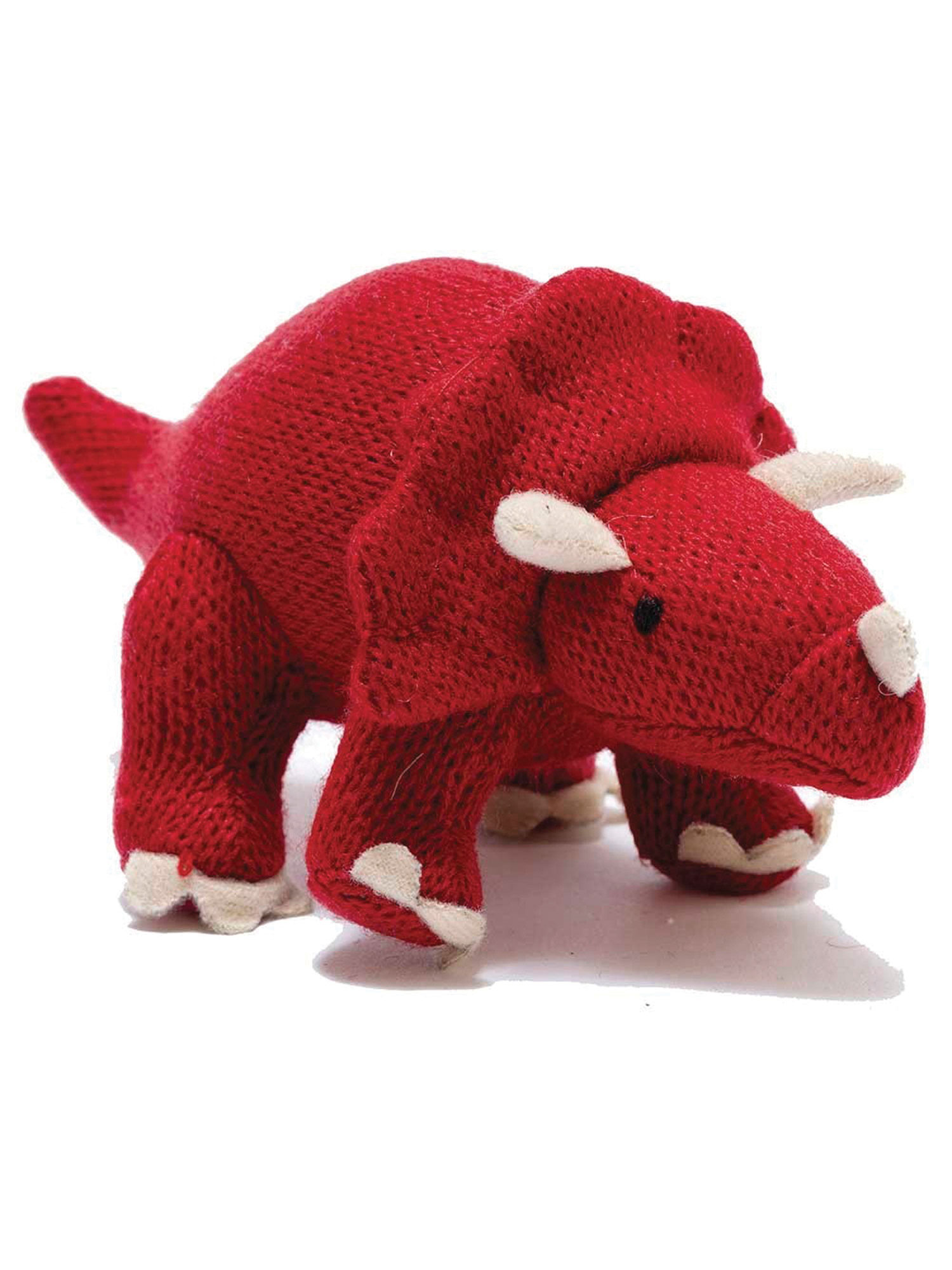 Best Years Knitted Triceratops Dinosaur Rattle