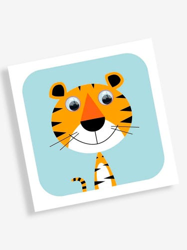 Stripey Cats Greetings Card Tiger