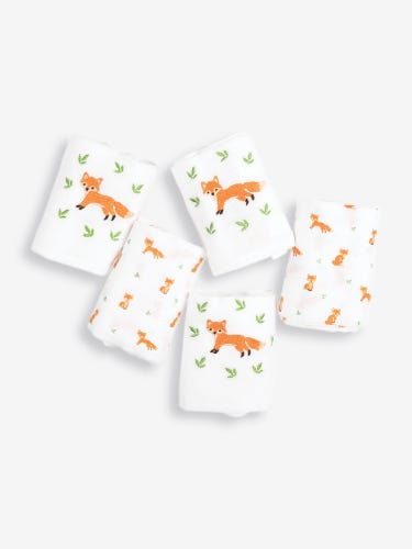 5-Pack Gift Boxed Baby Fox Muslins