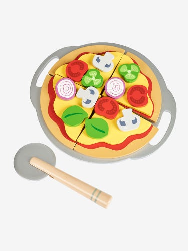 Wooden Pizza and Slice