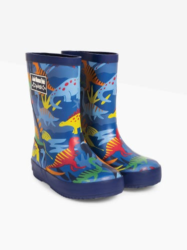 Dinosaur Patterned Children's Wellies