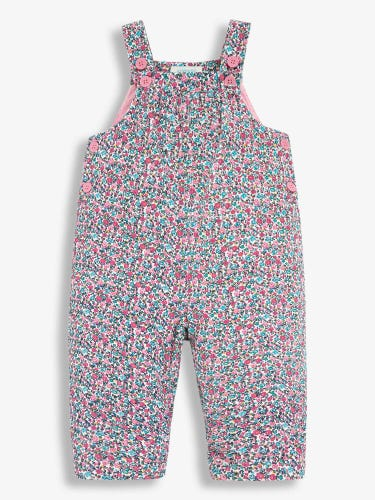 Pretty Ditsy Cord Baby Dungarees