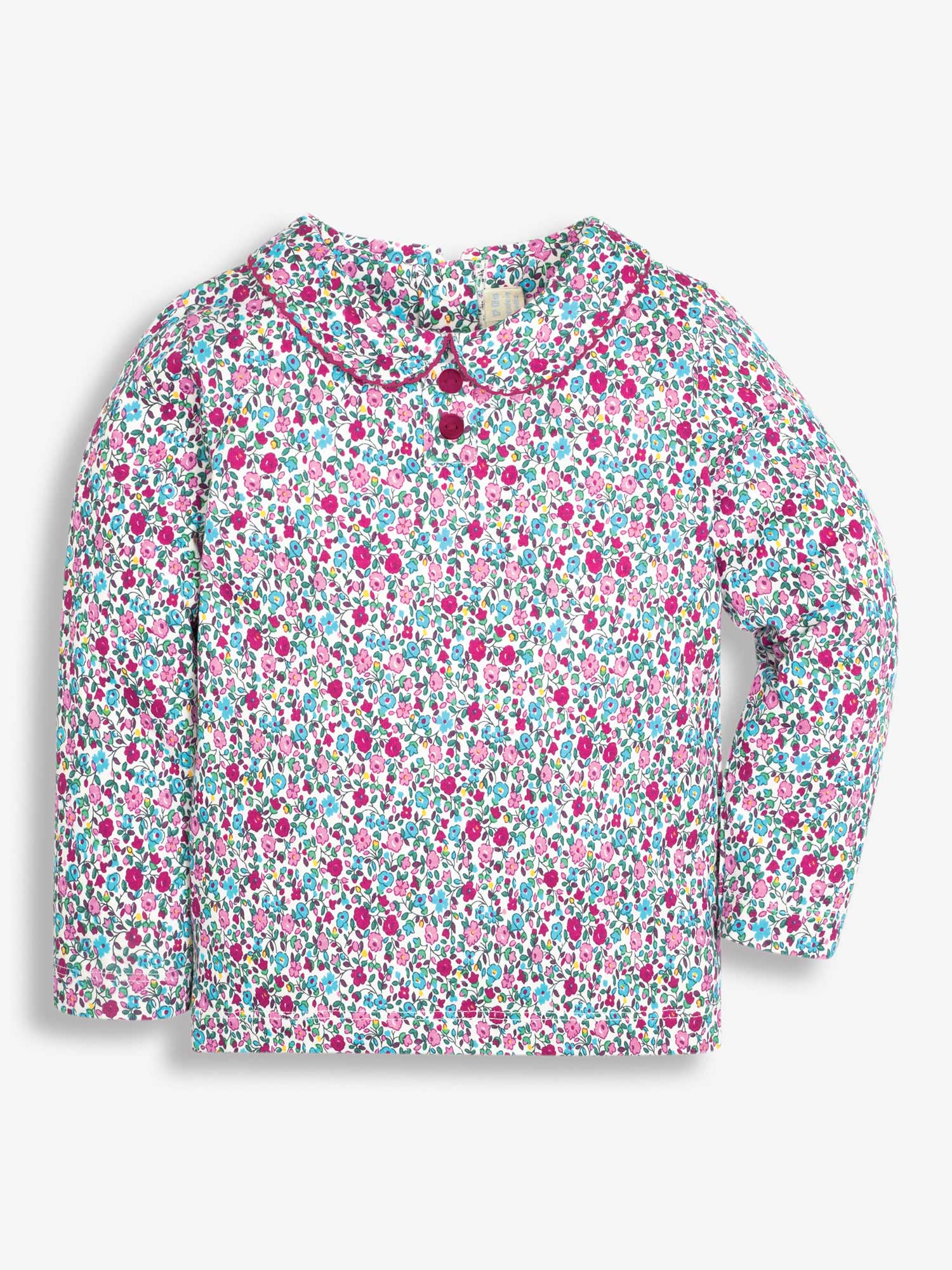 Girls' Pretty Ditsy Peter Pan Top