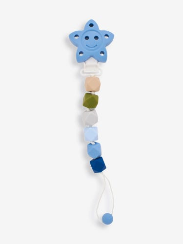 Blue Silicone Soother Clip