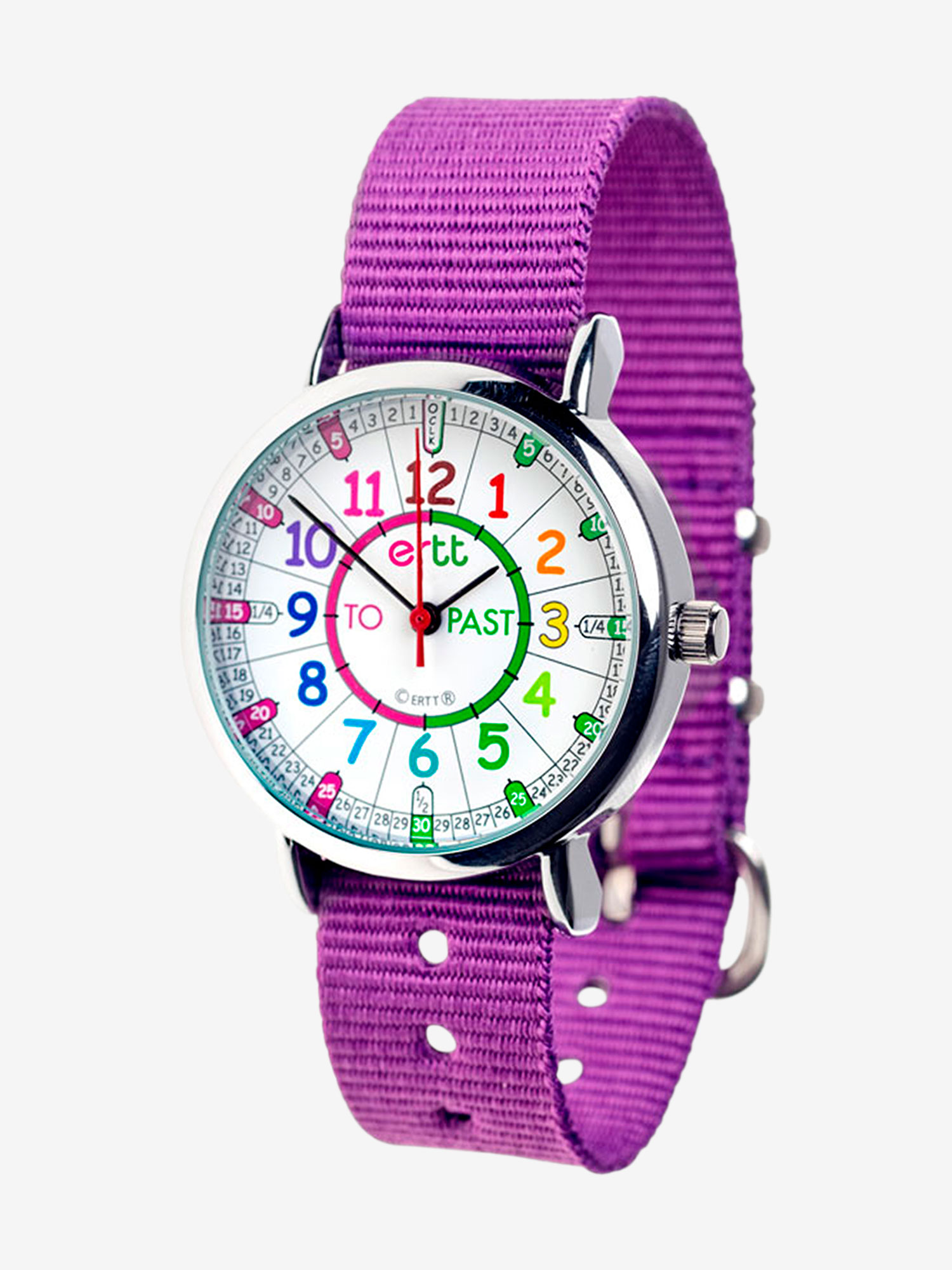 EasyRead Time Teacher Children's Wrist Watch Purple