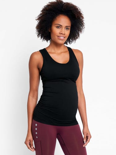 Black Active Support Maternity Top