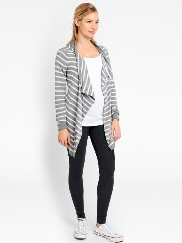 Breton Stripe 4-in-1 Maternity & Nursing Cardigan