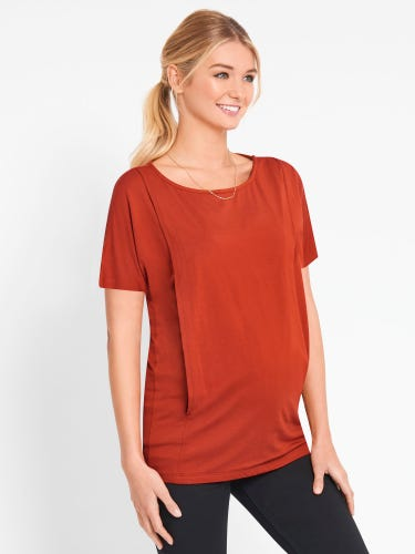 Short Sleeve Maternity & Nursing Top