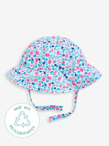 Girls' Floral Floppy Sun Hat